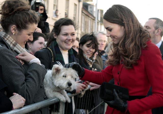 Prince William and Kate Middleton visit St Andrews