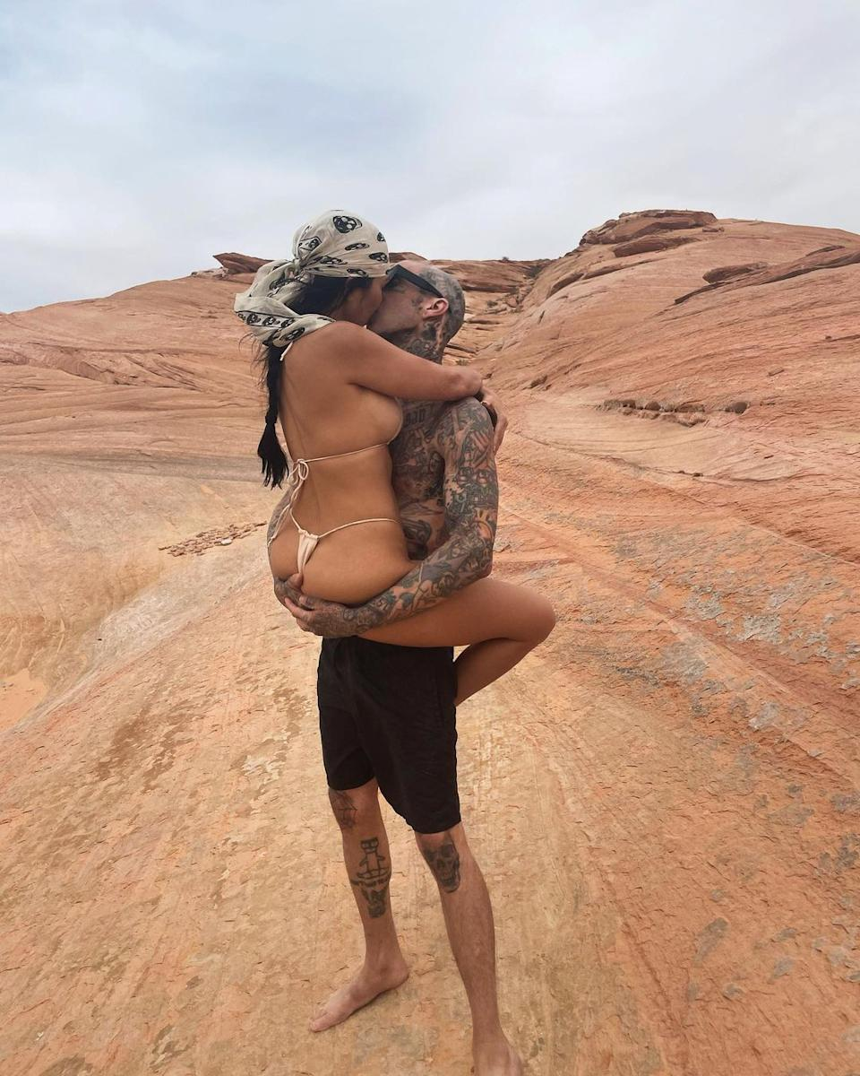 Kourtney recently started dating Travis Barker and things are heating up quickly between the pair. Photo: Instagram/Kourtney Kardashian