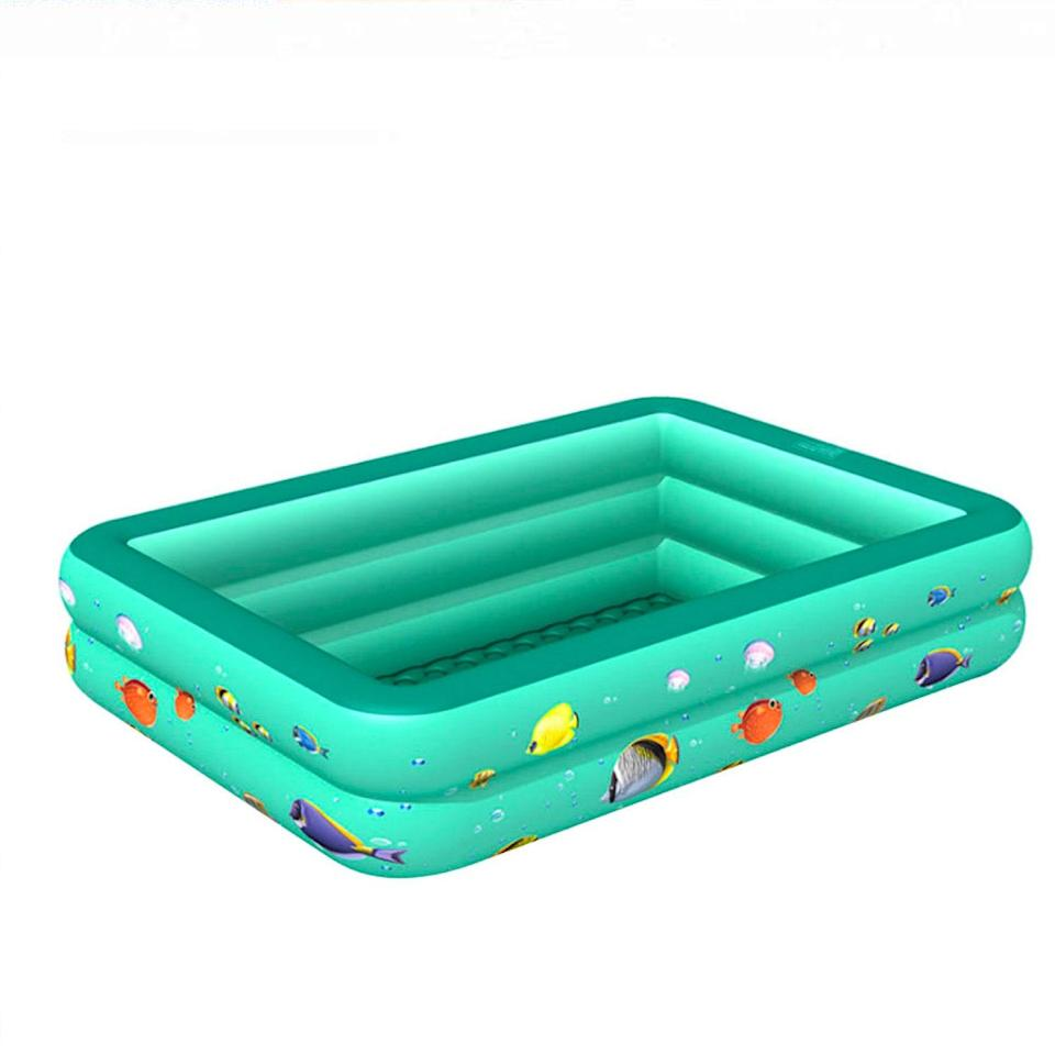 """A visualization: Close your eyes and pretend this aquatic pool is the twinkling shore on that vacation the 'Rona forced you to cancel. <em>Le sigh</em>. $57, Walmart. <a href=""""https://www.walmart.com/ip/Children-Multi-layer-Bathing-Tub-Baby-Home-Paddling-Pool-Inflatable-Summer-Swimming-Pool-Kids-Inflatable-Pool-Ocean-Ball/347307085"""" rel=""""nofollow noopener"""" target=""""_blank"""" data-ylk=""""slk:Get it now!"""" class=""""link rapid-noclick-resp"""">Get it now!</a>"""