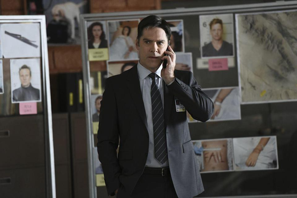 <p>As unit chief of the BAU, Hotch was known for being extremely serious, determined, and focused. Occasionally, he gave glimpses of his dry wit and humor, especially when spending time with his family. After being put into witness protection due to his son, Jack Hotchner, being stalked by serial killer Mr. Scratch, Hotch eventually resigned from the BAU to focus on being a full-time father.</p><p>Thomas Gibson is also known for his roles as Daniel Nyland in <em>Chicago Hope</em>, and Greg Montgomery in <em>Dharma & Greg.</em></p>