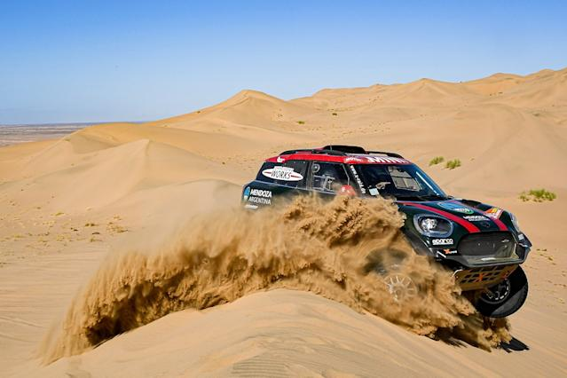 Another Mini leads Dakar, Alonso hits trouble