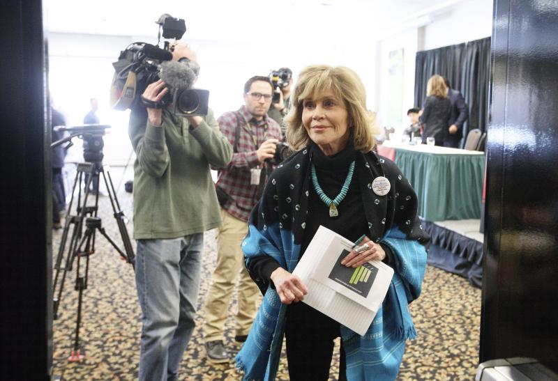 Jane Fonda says people should not be fooled by Trudeau