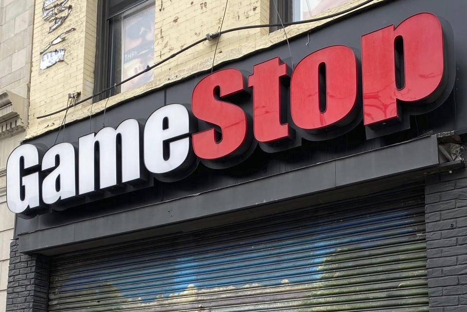 **FILE PHOTO** SEC Monitors GameStop Shares To Protect Retail Investors after a Group Effort to Drive Stock Shares Up To $325 from $17.25. NEW YORK, NY- APRIL 23: View of GameStop as the company announces executive pay cuts and store re-openings during COVID-19 pandemic on April 23, 2020. Credit: Rainmaker Photos/MediaPunch /IPX