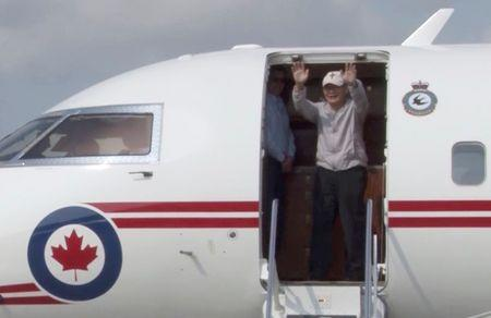 Rev. Hyeon Soo Lim who was imprisoned in North Korea for more than two years is seen celebrating as he returned Canada