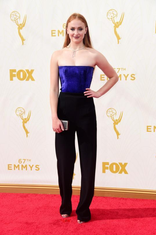 """<p>Sophie Turner wore pants on the red carpet, showing that the young """"Game of Thrones"""" star is an up-and-coming style star. If that doesn't convince the series to keep on going forever and ever, then perhaps the fact that it's the most popular show will. </p>"""