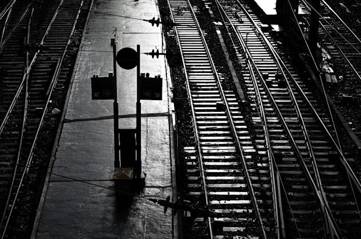 The strike has left many train stations deserted (AFP Photo/Philippe LOPEZ)