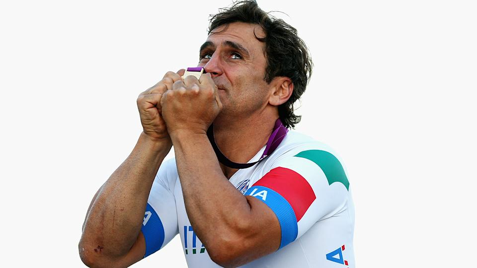 Alex Zanardi, pictured here at the London 2012 Paralympic Games.