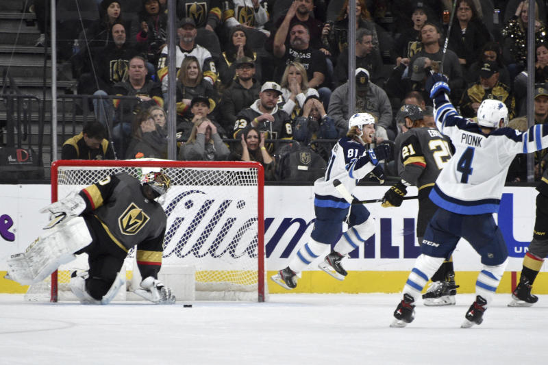 Jets rally to beat Golden Knights 4-3 in OT on Connor's goal