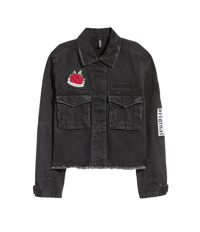 "<p>H&M Denim Jacket, $40, <a href=""http://www.hm.com/us/product/73756?article=73756-A&cm_vc=SEARCH#article=73756-A"" rel=""nofollow noopener"" target=""_blank"" data-ylk=""slk:hm.com"" class=""link rapid-noclick-resp"">hm.com</a><br>(Data: Long Tall Sally, Instagram) </p>"