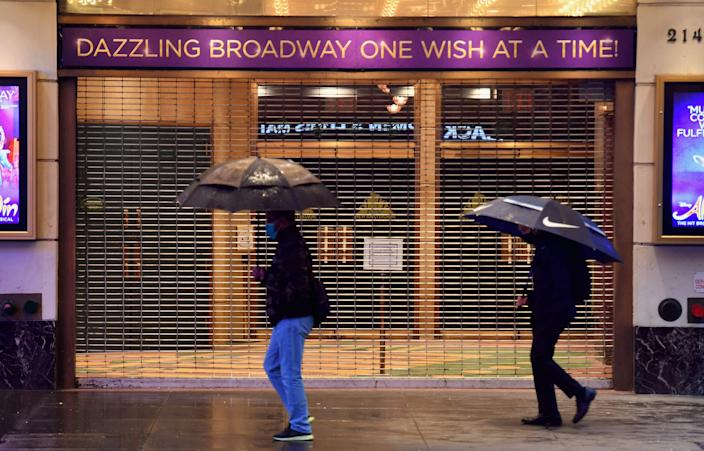 <p>New York to ease restrictions on entertainment venues</p> (AFP via Getty)