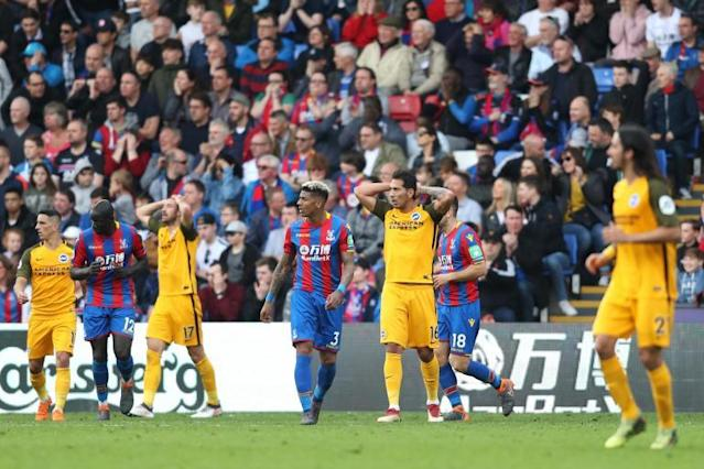 Chris Hughton backs wayward Glenn Murray and criticises Brighton's defending after defeat at Crystal Palace