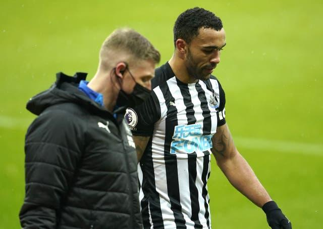 Newcastle striker Callum Wilson tore a hamstring in the 3-2 victory over Southampton on February 6