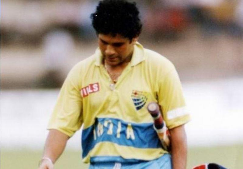 The yellow did not suit India much and they changed the jersey soon after (Image credits: Indiascanner)