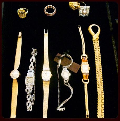 """<div class=""""caption-credit""""> Photo by: Courtesy of Erin Walsh</div><div class=""""caption-title""""></div>On the accessories front, we didn't want anything that would distract, only pieces that would accent our stunner of a dress. In the end, the gold band on one of the Movado watches worked so well with the glints of gold on the dress. My first boss at Vogue, Phyllis Posnick, is the master of """"less-is-more,"""" and I always try to keep that in mind. <br> <br> <b>See more: <br> <a rel=""""nofollow"""" target="""""""" href=""""http://www.vogue.com/parties/hbo-and-the-governors-ball-emmy-awards-after-parties?mbid=synd_yshine"""">Exclusive Emmy After-Party Photos</a></b> <br> <b><a rel=""""nofollow"""" target="""""""" href=""""http://www.vogue.com/fashion/10-best-dressed/special-edition-best-dressed-the-2013-emmy-awards?mbid=synd_yshine"""">Who Was the Best-Dressed at the Emmys?</a></b> <br>"""