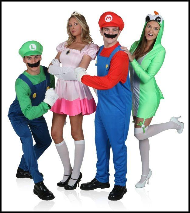 """<p>$9 and up</p><p><a class=""""body-btn-link"""" href=""""https://go.redirectingat.com?id=74968X1596630&url=https%3A%2F%2Fwww.halloweencostumes.com%2Fmario-luigi-costumes.html&sref=http%3A%2F%2Fwww.womansday.com%2Flife%2Fg3083%2Fbest-group-halloween-costumes%2F"""" target=""""_blank"""">Buy Now</a></p><p>An easy way to embrace the playfulness of Halloween is to bring your favorite childhood video game characters to life.</p>"""