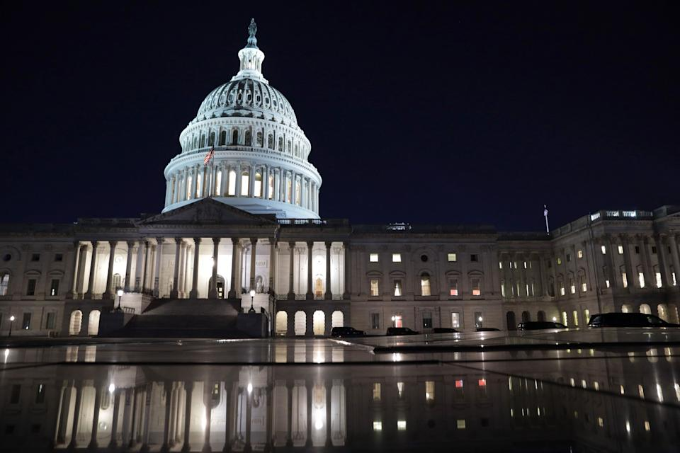 Senators worked overnight through Saturday morning to get through a deluge of Republican amendments to the $1.9 trillion COVID-19 relief package, which passed the Senate on Saturday. (Photo: Alex Wong/Getty Images)