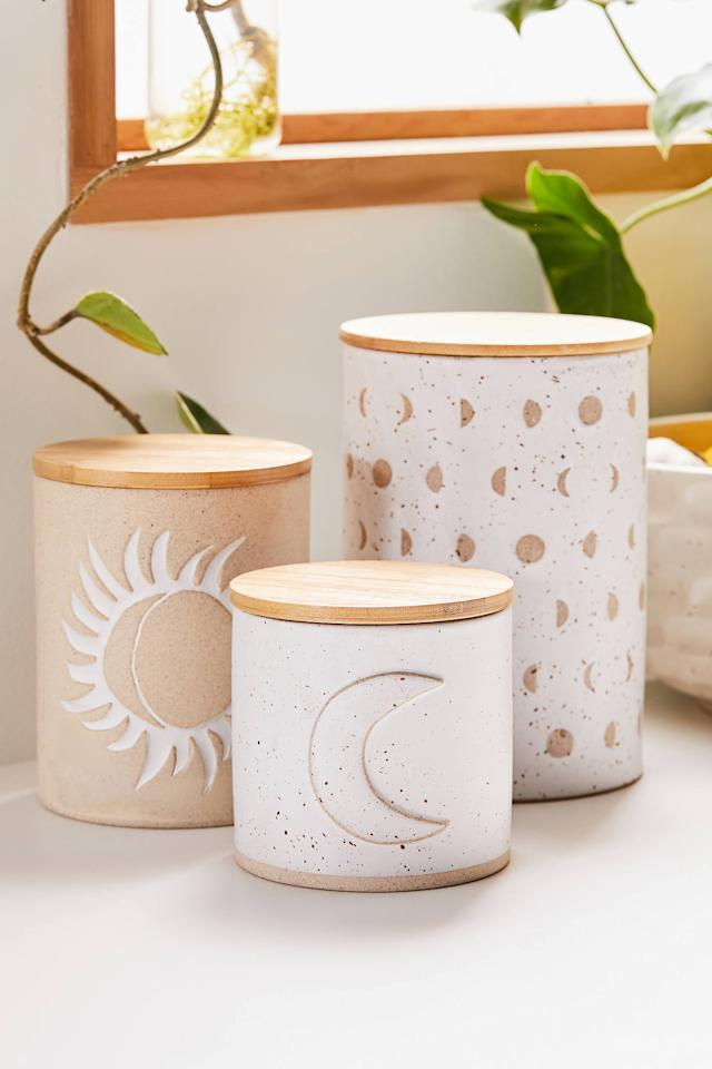 """<p>The <a href=""""https://www.popsugar.com/buy/Ivy-Ceramic-Canister-509075?p_name=Ivy%20Ceramic%20Canister&retailer=urbanoutfitters.com&pid=509075&price=14&evar1=savvy%3Aus&evar9=36292182&evar98=https%3A%2F%2Fwww.popsugar.com%2Fphoto-gallery%2F36292182%2Fimage%2F46829434%2FIvy-Ceramic-Canister&list1=gifts%2Choliday%2Cgift%20guide%2Corganization%2Cproductivity%2Choliday%20living%2Cgifts%20for%20women%2Cgifts%20for%20men%2Cgifts%20under%20%24100&prop13=api&pdata=1"""" rel=""""nofollow"""" data-shoppable-link=""""1"""" target=""""_blank"""" class=""""ga-track"""" data-ga-category=""""Related"""" data-ga-label=""""https://www.urbanoutfitters.com/shop/ivy-ceramic-canister?category=SEARCHRESULTS&amp;color=012&amp;quantity=1&amp;size=ONE%20SIZE&amp;type=REGULAR"""" data-ga-action=""""In-Line Links"""">Ivy Ceramic Canister</a> ($14) is perfect for hiding away little snacks. </p>"""