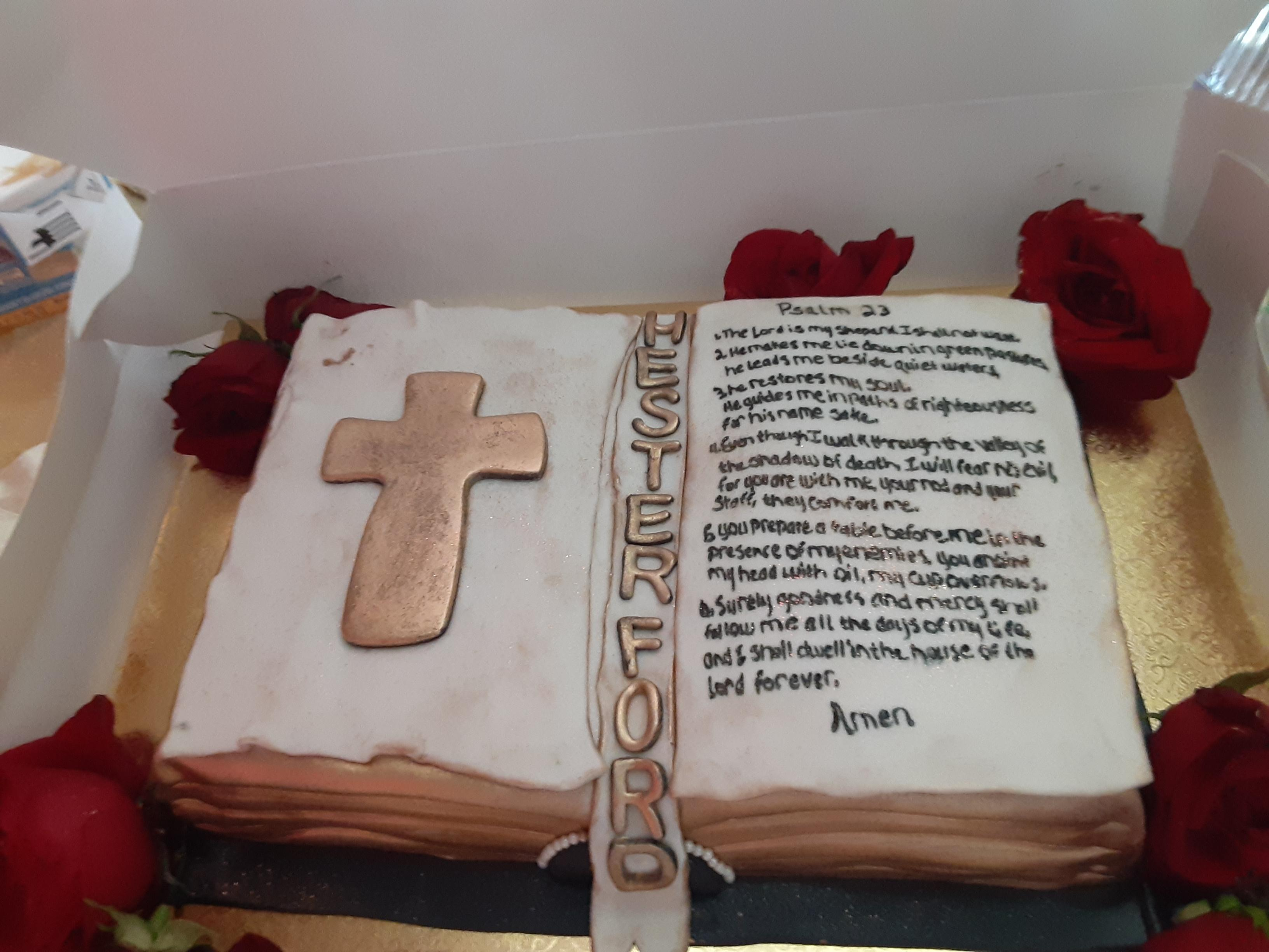 A cake for Hester Ford's birthday. (Photo courtesy of Mary Hill)
