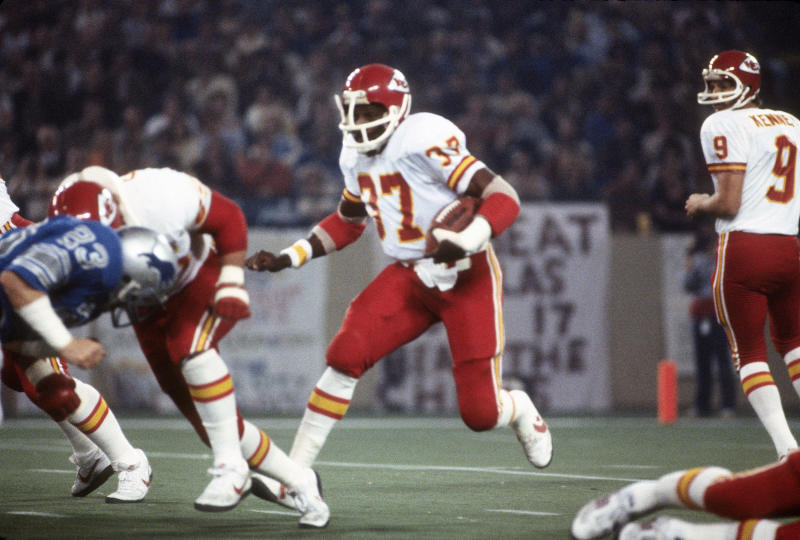 Joe Delaney made the Pro Bowl during his rookie season with the Chiefs. (Photo by Focus on Sport/Getty Images)