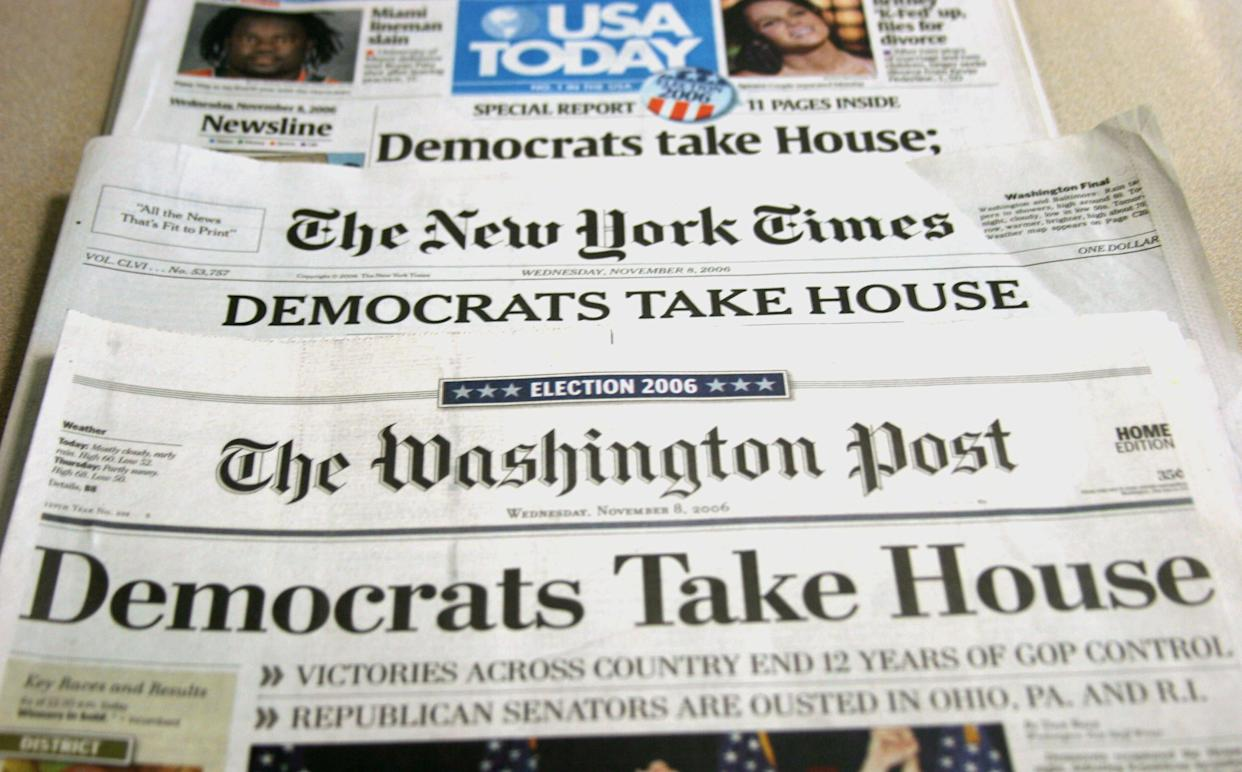 In the 2006 elections, Democrats won back control of both the House and the Senate. (Photo: Nicholas Kamm/Getty Images)