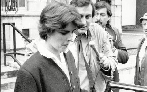 Mary Parkinson leaving Marylebone Magistrates Court in 1987 - Credit: Blackbrow/ANL/REX/Shutterstock