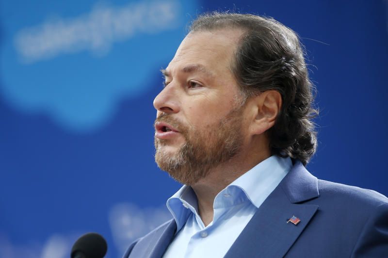 """Salesforce founder and CEO Marc Benioff has called family separations at the border """"immoral."""""""