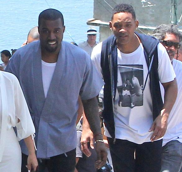 Kanye West And Will Smith Head To Studio Together During Brazil Vacation With Kim Kardashian