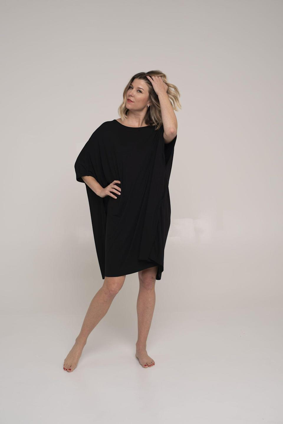 """<p>dayowomen.com</p><p><strong>$90.00</strong></p><p><a href=""""https://dayowomen.com/product/multi-everything-poncho/"""" rel=""""nofollow noopener"""" target=""""_blank"""" data-ylk=""""slk:Shop Now"""" class=""""link rapid-noclick-resp"""">Shop Now</a></p><p>A minimalist's dream, this poncho dress can be dressed up or down for whatever your days holds. It totally works as a sleep dress, or can be worn for errands or even a night out. </p>"""