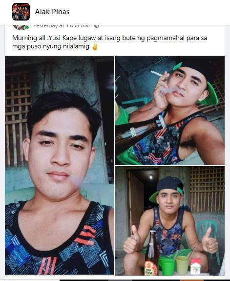 Jhono Tayopon on Alak Pinas. Screenshot from the Facebook page.