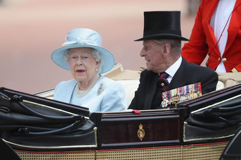 The Queen and Prince Philip had been hosting the Sultan of Bahrain and were out for a carriage ride with Paul riding at the back. Source: Getty