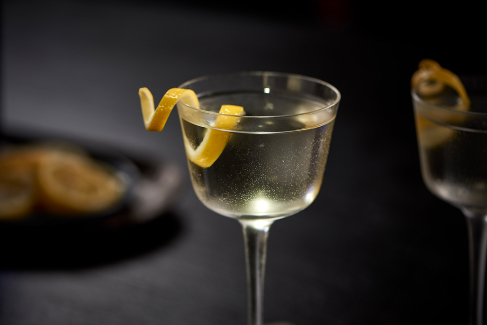 <p><strong>Ingredients</strong></p><p>1 oz Grey Goose vodka<br>2.5 oz Bombay Sapphire gin<br>.5 oz Lillet </p><p><strong>Instructions</strong></p><p>Stir all ingredients together with ice and strain into a well-chilled cocktail glass. Garnish with a twist of lemon.<br></p>