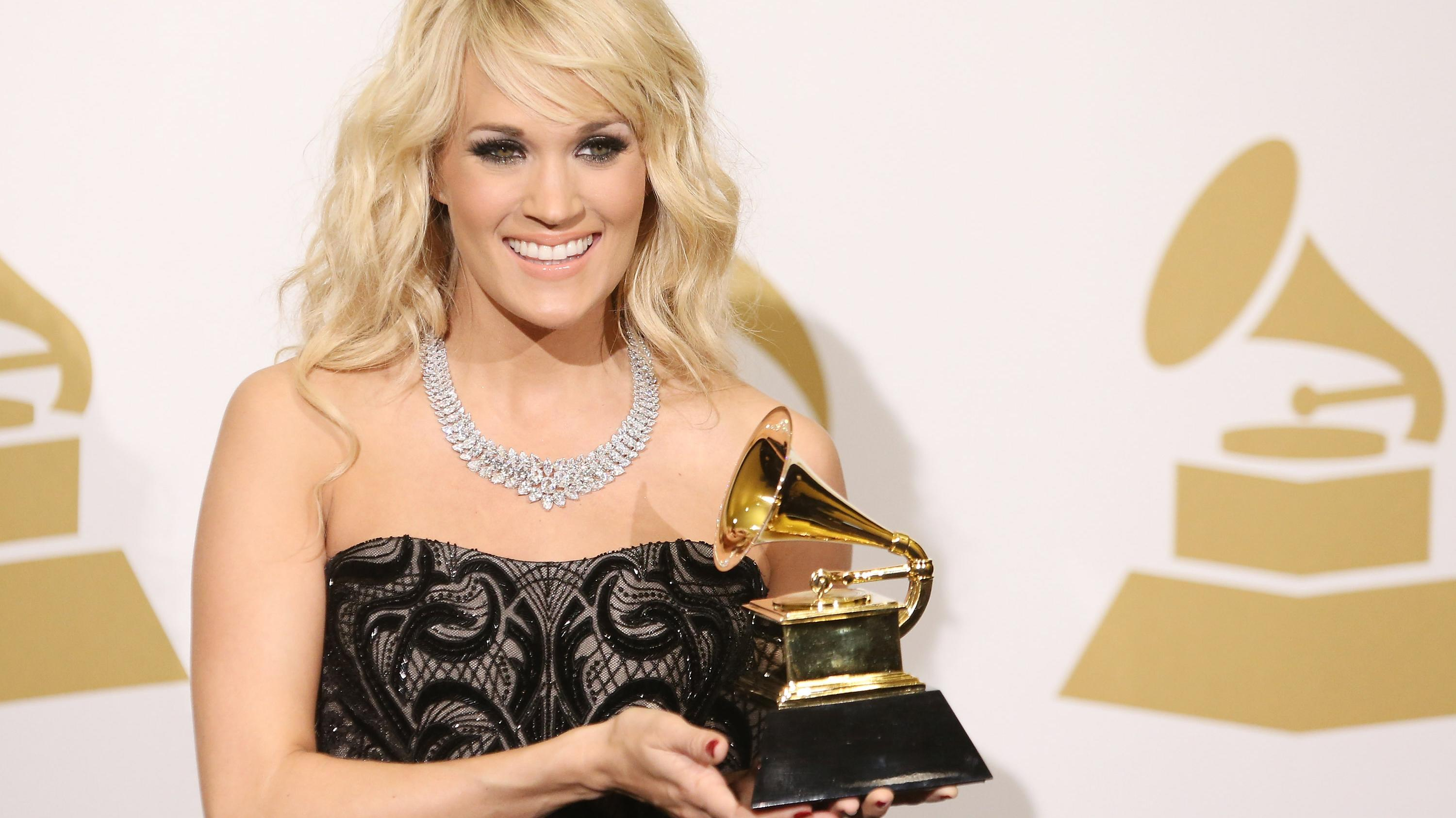 Carrie Underwood attends the Grammy awards on February 10, 2013. (Photo by Michael Tran/FilmMagic)