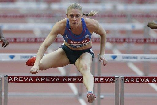 Australia's Sally Pearson competes at the 100m hurdles event of the IAAF Diamond League athletics Areva meeting, on July 6, at the Stade de France in Saint-Denis. Pearson is the world champion, has a bulging trophy cabinet and owns this year's fastest time -- and she simply won't hear of settling for silver again at the Olympics