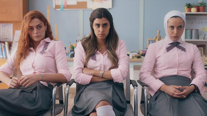"<p>Netflix's second Arabic original series takes place at an all-girls high school in Jordan, following a group of bullied outcasts as they attempt to take down their tormentors. </p> <p><strong>When it's available: </strong><a href=""http://www.netflix.com/title/81034661"" class=""link rapid-noclick-resp"" rel=""nofollow noopener"" target=""_blank"" data-ylk=""slk:TBA"">TBA</a></p>"