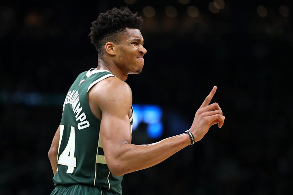 Milwaukee Bucks superstar Giannis Antetokounmpo captured the first MVP honor of his young career. (Getty Images)