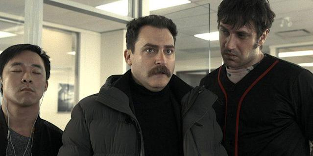 Andy Yu as Meemo, Stuhlbarg, and Goran Bogdan as Yuri in FX's Fargo. (Photo: FX)