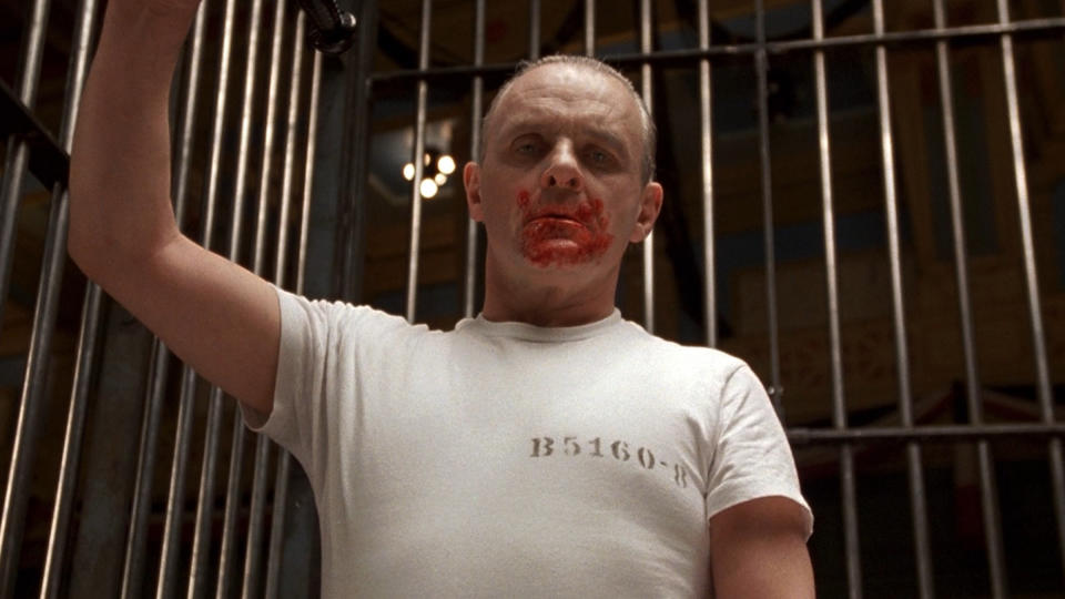 Anthony Hopkins as Hannibal Lecter in 'The Silence of the Lambs'. (Credit: Orion Pictures)