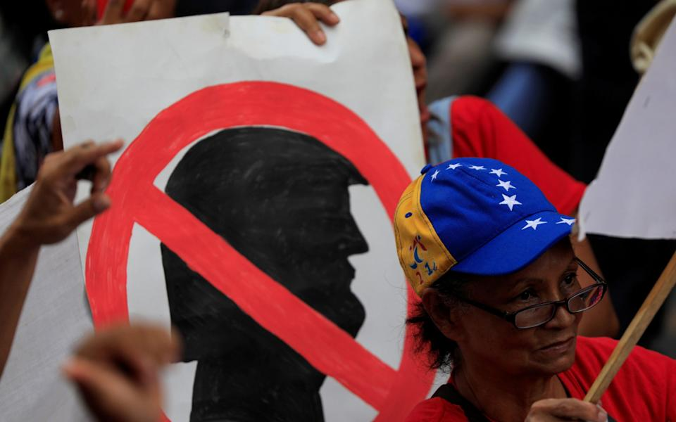 Maduro supporters attend a rally against Donald Trump (file photo) - REUTERS/Carlos Jasso