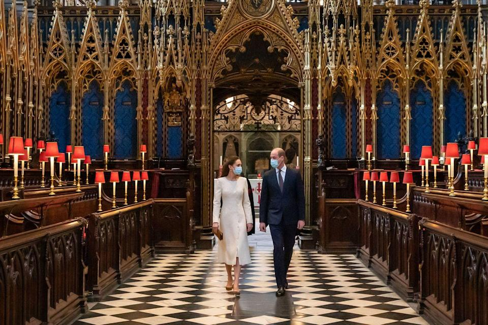 <p>Shortly before their 10th anniversary, Will and Kate returned to their wedding venue, Westminster Abbey, to visit a vaccination clinic.</p>