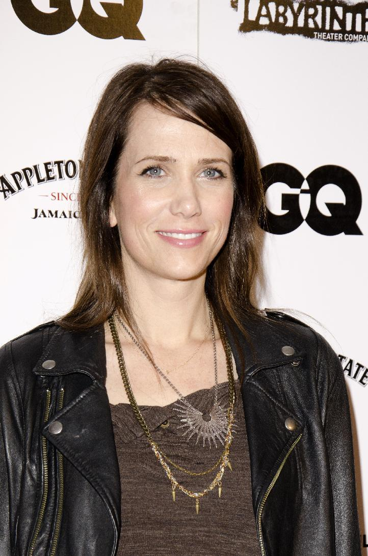 """FILE - In this Nov. 14, 2011 file photo, Saturday Night Live cast member Kristen Wiig attends the Labyrinth Theater Comany's 9th Annual Gala Benefit at The Highline Ballroom in New York.   Wiig, Andy Samberg and Jason Sudeikis have been reported to be leaving SNL, though Michaels has said any decision will wait until the summer. With a presidential election looming, an immediate exodus of all three is unlikely. Sudeikis plays both Republican candidate Mitt Romney and Vice President Joe Biden, and """"SNL"""" has previously taken an all-hands-on-deck approach to election season shows. (AP Photo/EricReichbaum)"""