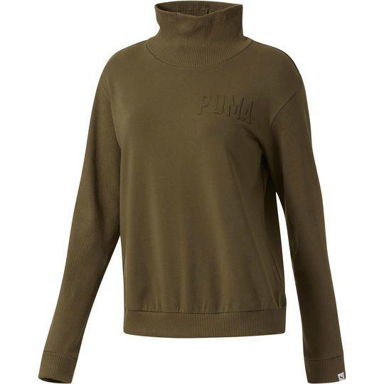 """In recent years, Puma has completely transformed into an athleisure powerhouse ... with fashionable fitness gear to boot. Shop them <strong><a href=""""http://us.puma.com/en_US/pd/fusion-turtleneck-sweatshirt/pna592365.html?dwvar_pna592365_color=14#start=2"""" target=""""_blank"""">here</a></strong>."""