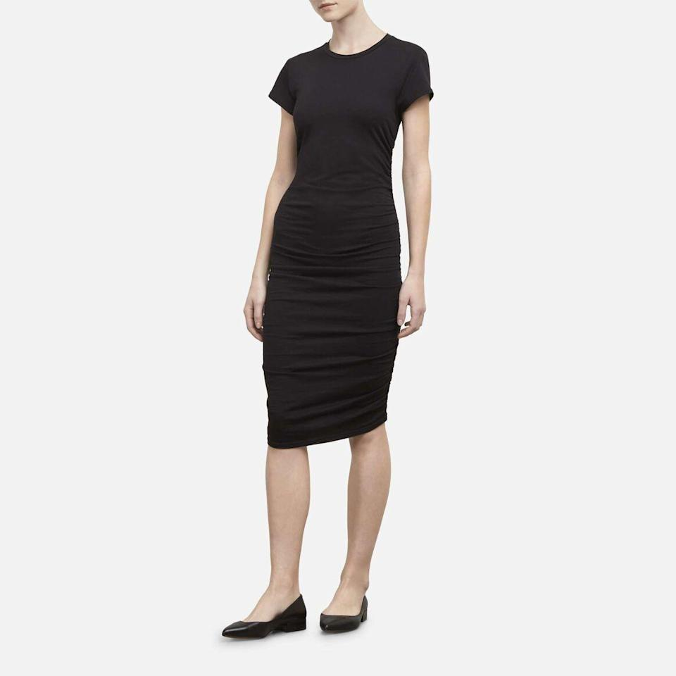 Ruched Knit T-Shirt Dress (Credit: Kenneth Cole)