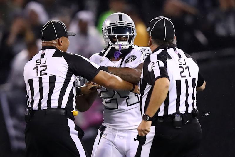 Marshawn Lynch ejected from Chiefs vs. Raiders game