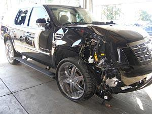 Tiger's SUV sustained significant damage