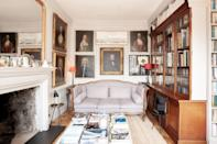 """The 15-odd portraits hanging salon-style in this Old Town studio are reason enough to stay, but the three walls of floor-to-ceiling bookshelves are the real star. The two deep couches make it a cozy place to snuggle up on a gray <a href=""""https://www.cntraveler.com/destinations/edinburgh?mbid=synd_yahoo_rss"""" rel=""""nofollow noopener"""" target=""""_blank"""" data-ylk=""""slk:Edinburgh"""" class=""""link rapid-noclick-resp"""">Edinburgh</a> day. Granted, you'll have to imagine a roaring fire, as the fireplace is solely decorative. $118, Airbnb (Starting Price). <a href=""""https://www.airbnb.com/rooms/plus/860170"""" rel=""""nofollow noopener"""" target=""""_blank"""" data-ylk=""""slk:Get it now!"""" class=""""link rapid-noclick-resp"""">Get it now!</a>"""