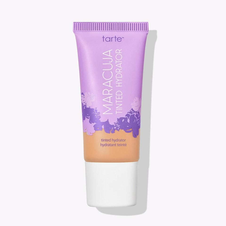 """The perfect blend of moisturizer and medium coverage, I love the glow that Tarte's tinted moisturizer gives my skin. It lasts all day and helps my makeup go on smoother and more evenly. Plus, it has good-for-your-skin ingredients like hydrating maracuja oil, hyaluronic acid, aloe, and turmeric. —<em>Jessica Radloff, west coast editor</em> $29, Tarte Cosmetics. <a href=""""https://tartecosmetics.com/shop/maracuja-tinted-moisturizer-846733041374.html?"""" rel=""""nofollow noopener"""" target=""""_blank"""" data-ylk=""""slk:Get it now!"""" class=""""link rapid-noclick-resp"""">Get it now!</a>"""