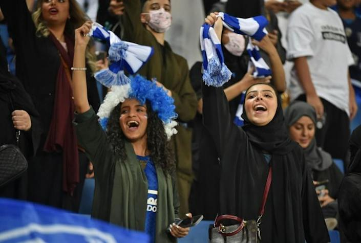 Even as the kingdom has introduced reforms -- including allowing women into sports stadiums -- it has attracted condemnation for a heavy-handed crackdown on dissidents (AFP Photo/Fayez Nureldine)