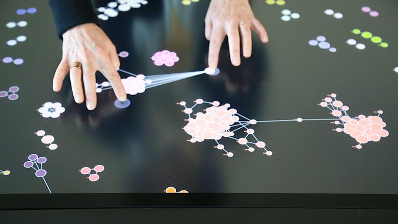 Person using Carto system from Givaudan Fragrances