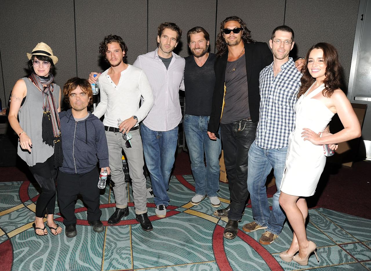 <p>Members of the cast joined writer David Benioff and writer/producer D.B. Weiss for HBO's <strong>Game of Thrones</strong> panel during Comic-Con. </p>