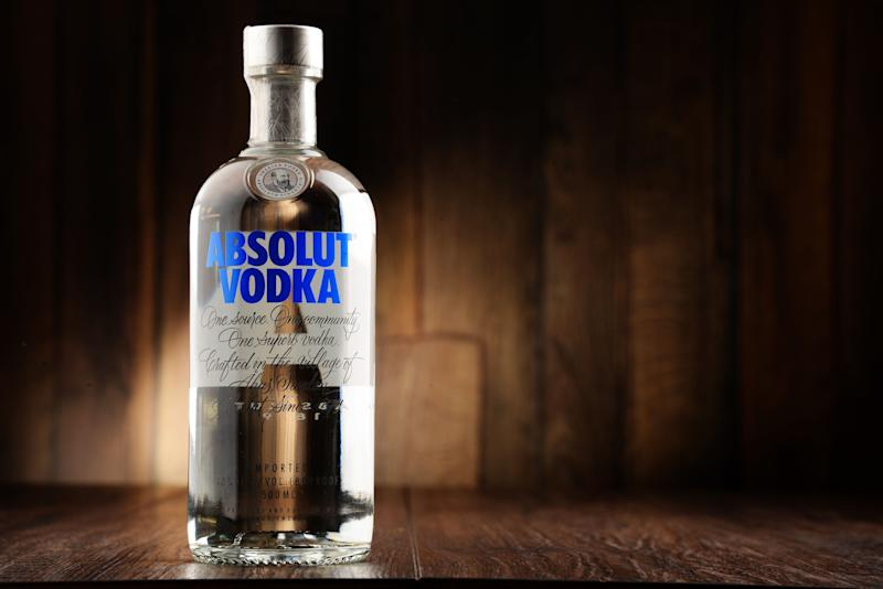 """Just a <a href=""""https://contact.absolut.com/org/absolut-vodka/d/calories-and-carbs-for-all-vodkas/"""" target=""""_blank"""">few calories less</a> than a shot of tequila or whiskey."""